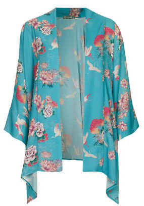 Kimono Topshop turquesa